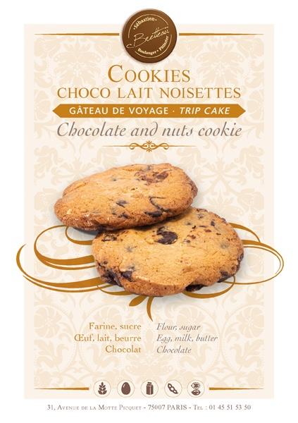 Cookies choco lait noisettes