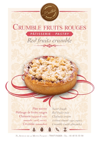 Crumble aux fruits rouges