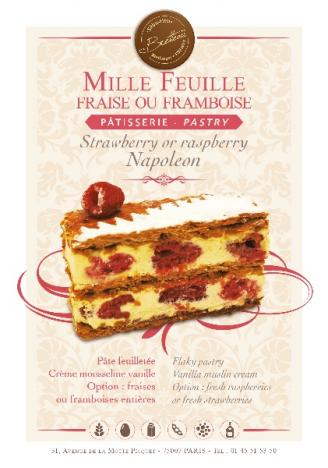 Mille feuille fraise ou framboise