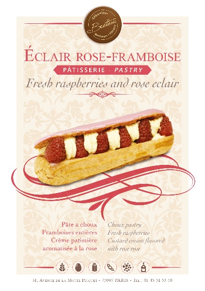 Eclair rose-framboise