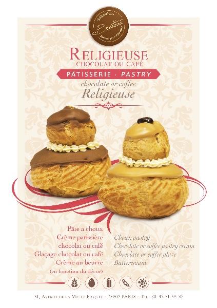 Religieuse café ou chocolat