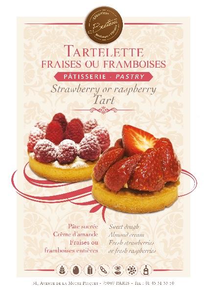 Tartelette aux fraises ou framboises