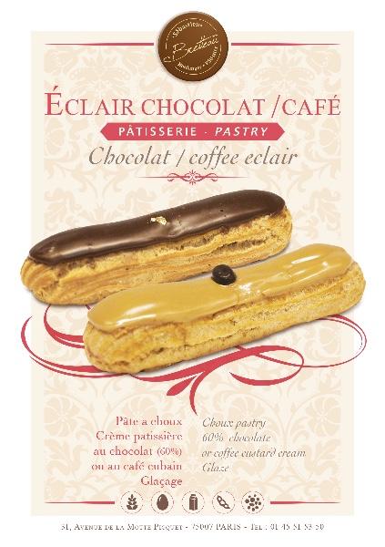 Eclair chocolat ou café