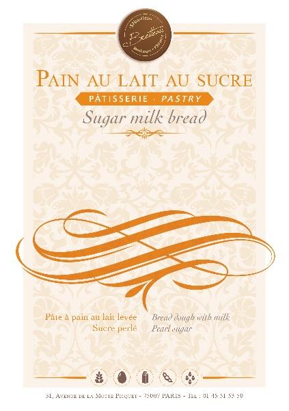 Pain au lait au sucre