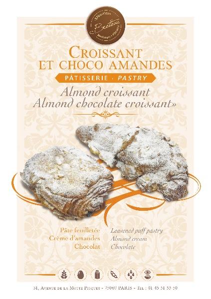 Croissant et choco amandes